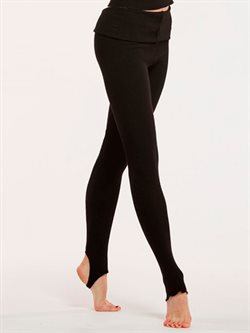 Sort strop viscose leggings til yoga og gymnastik