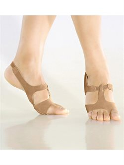 So Danca afro sandal hudfarvet gymnastik