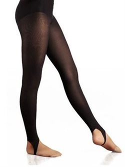 Sort dame gymnastik tights med strop fra Capezio
